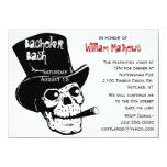 Skull in Top Hat Bachelor Party Invitation 11 Cm X 16 Cm Invitation Card