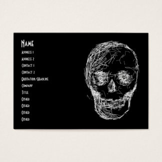 Skull, in White. Business Card