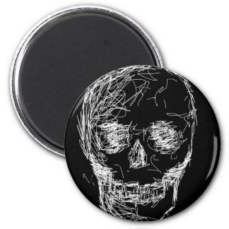 Skull, in White. Magnet