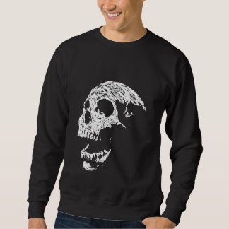 Skull in White on Black. Sweatshirt