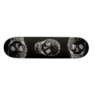 Skull, in White. Skateboard Decks