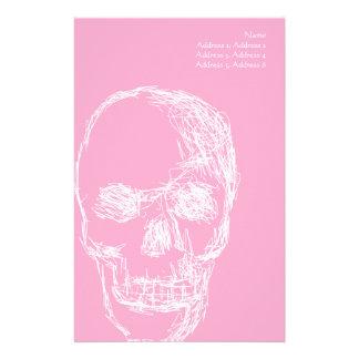 Skull, in White. Stationery