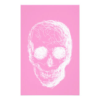 Skull, in White. Stationery