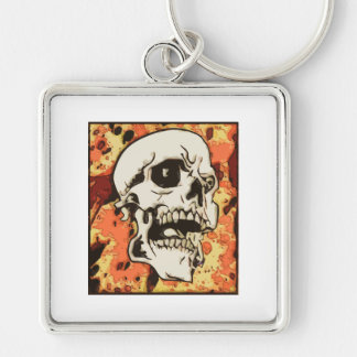 Skull in yellow keychains