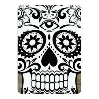 Skull 13 Cm X 18 Cm Invitation Card