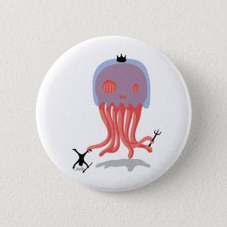 Skull Jellyfish 6 Cm Round Badge