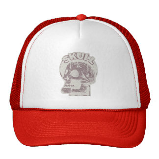 SKULL Keyhole - Rusted Red Distressed Logo look Cap