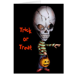 Skull Kid - Halloween Greeting Card