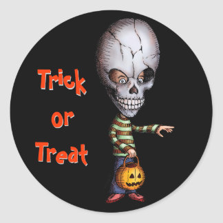 Skull Kid - Halloween Classic Round Sticker