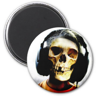 Skull Kid Headphones Design - GeekShirts 6 Cm Round Magnet