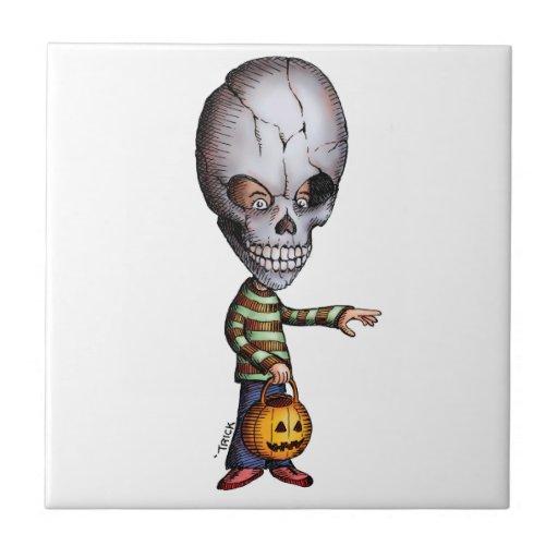 Skull Kid Ceramic Tile