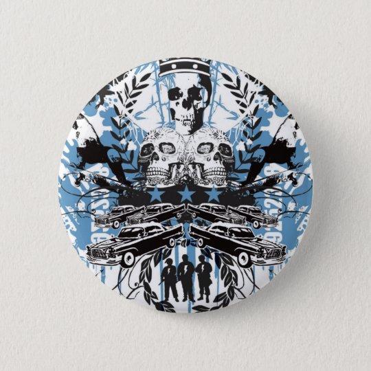 Skull King 6 Cm Round Badge