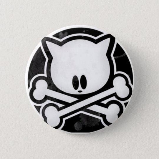 Skull Kitty Button