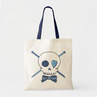 Skull & Knitting Needles (Blue)
