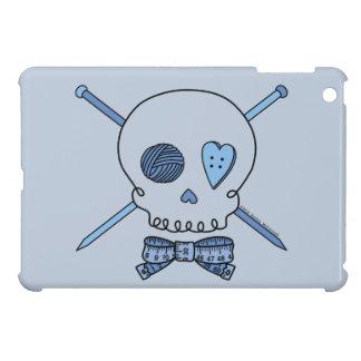 Skull & Knitting Needles (Blue Background) Case For The iPad Mini