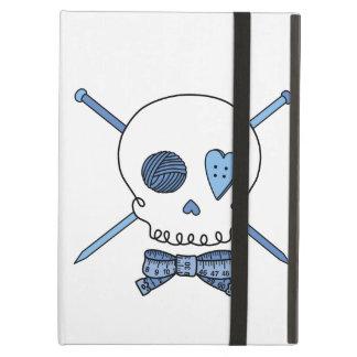 Skull & Knitting Needles (Blue) Case For iPad Air