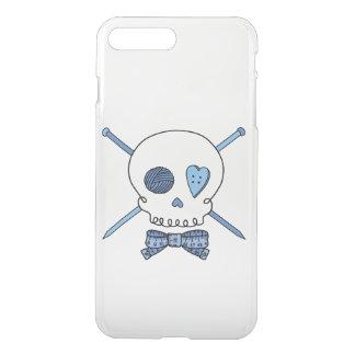 Skull & Knitting Needles (Bow Tie) iPhone 7 Plus Case