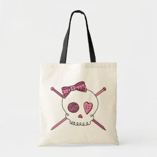 Skull & Knitting Needles (Pink)