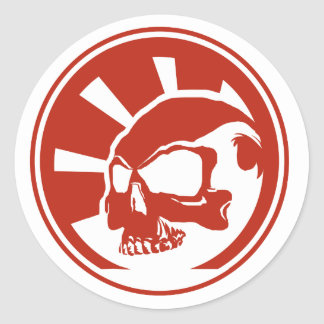 Skull Large Sticker Red