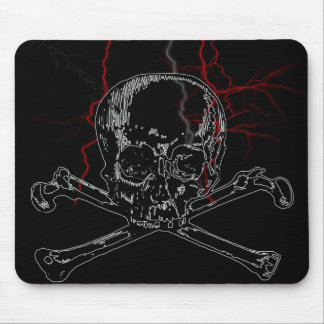 skull lightning mouse mat