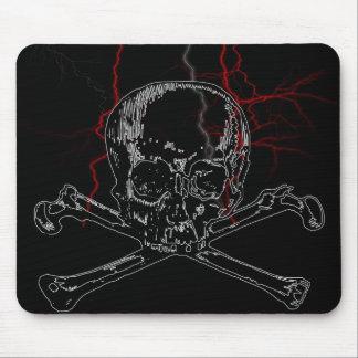 skull lightning mouse pad
