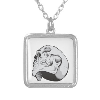 Skull Looking Up Necklace