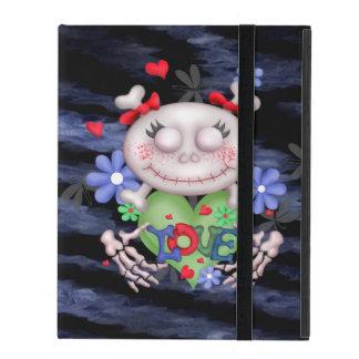 SKULL LOVE 2 BLEU CUTE iPad 2/3/4 iPad Cover