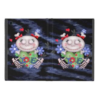 SKULL LOVE 2 BLEU CUTE iPad Mini Covers For iPad Mini
