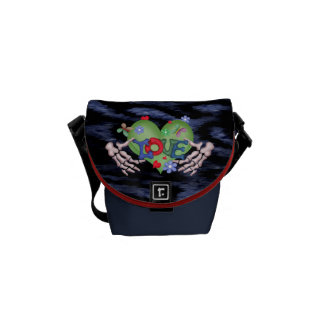 SKULL LOVE 2 Rickshaw MINI Messenger Bag