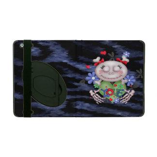 SKULL LOVE BLEU CUTE  iPad 2/3/4  Kickstand 2 iPad Folio Cover