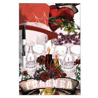 Skull Love Marriage Skeleton Couple Dry-Erase Boards