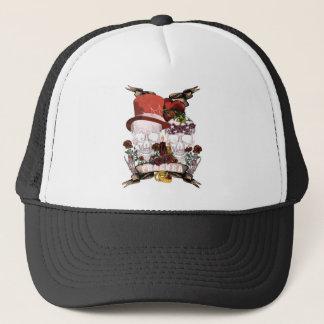 Skull Love Marriage Skeleton Couple Trucker Hat