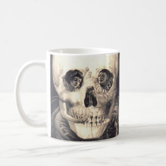 Skull Love Retro Optical Illusion Coffee Mug