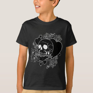 Skull Love - Skulls, Roses and Hearts by Al Rio T-Shirt