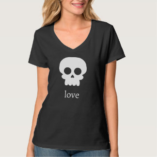 Skull Love T-Shirt in Black