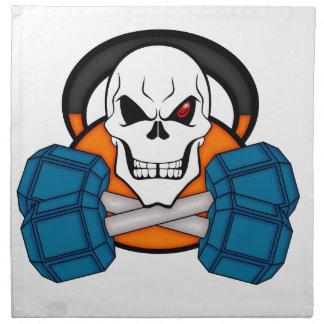 Skull love's weights napkin