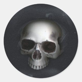 Skull, Lower Jaw Removed Round Sticker