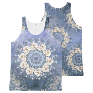 Skull Mandala All-Over Print Tank Top