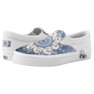 Skull Mandala Slip On Shoes