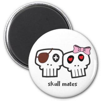 Skull Mates 6 Cm Round Magnet