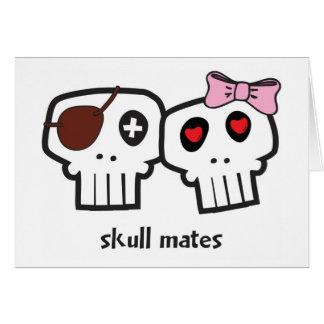 Skull Mates Valentine Greeting Card