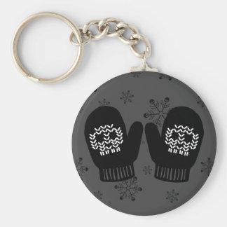 Skull Mittens Key Ring