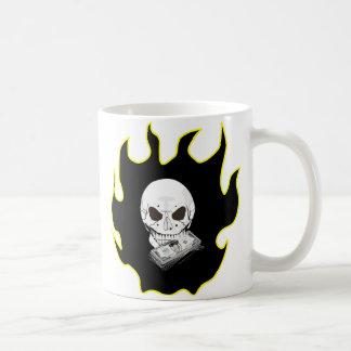 Skull Money Basic White Mug