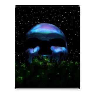 Skull Moon Postcard