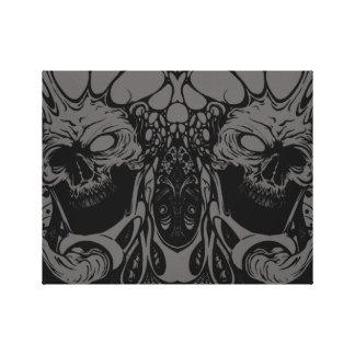 skull morph canvas print