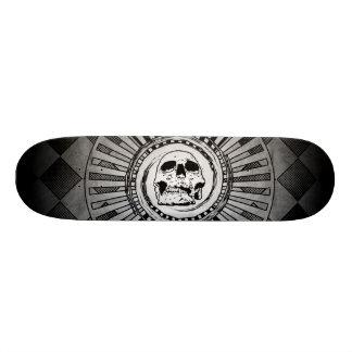 Skull Motif Black & White Skateboards
