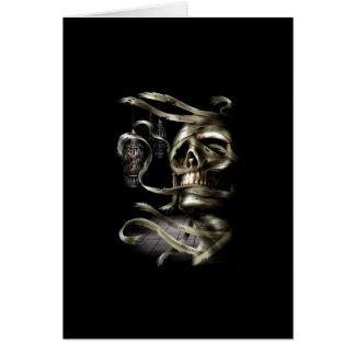 Skull Mummy Card
