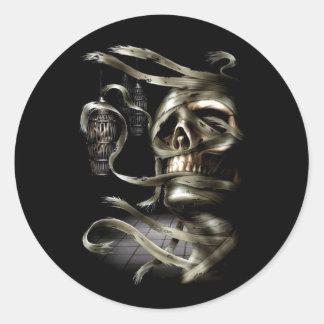 Skull Mummy Round Sticker