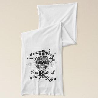 Skull & Music Graphics Scarf