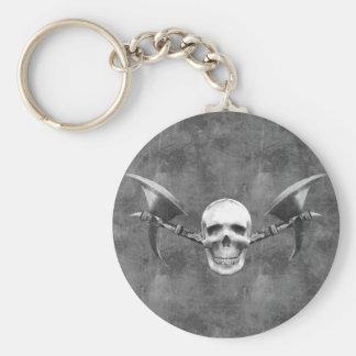 Skull N Axes Keychain